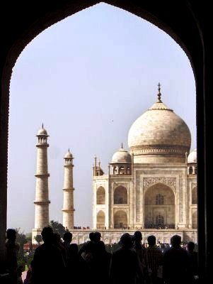Taj Mahal through the archway
