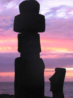 Sunset at Easter Island