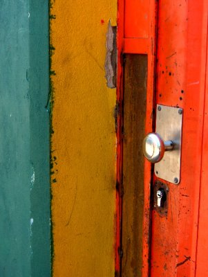 Colourful door in Buenos Aires