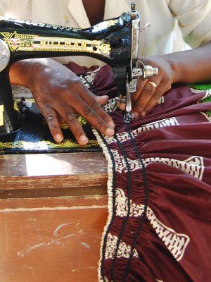 Making a traditional dress