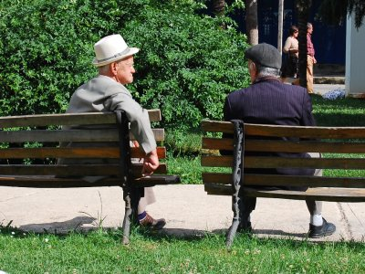 Old men in park