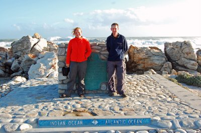 Rich and I at Cape Aguilhas