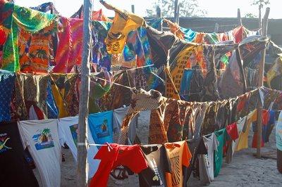 Fabrics at the market