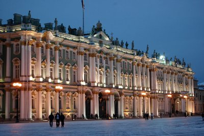 The Hermitage at sunset