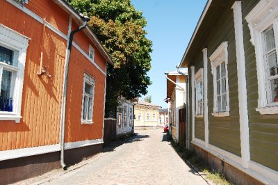 Street scene from Rauma old town