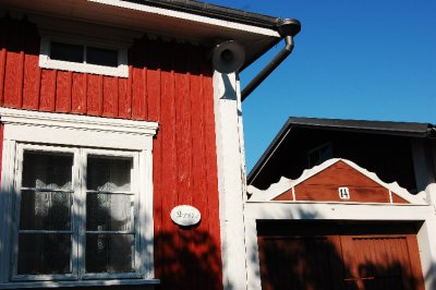 Detail of a red house