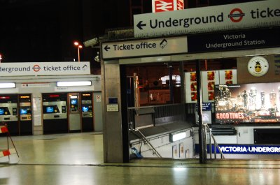 Vic station at night