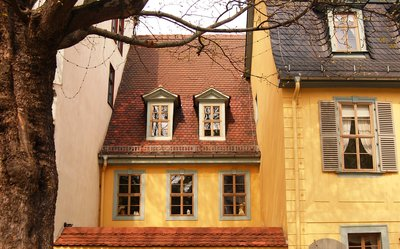 Yellow houses in Weimar