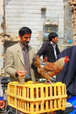 Esfahan chicken market