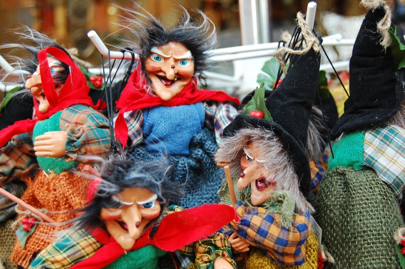 Easter witches for sale in the market