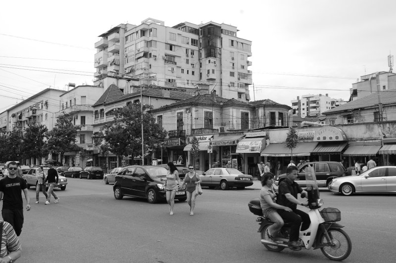 Back street in Tirana