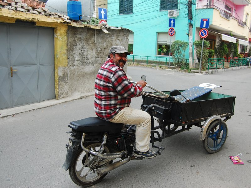 Man going to market