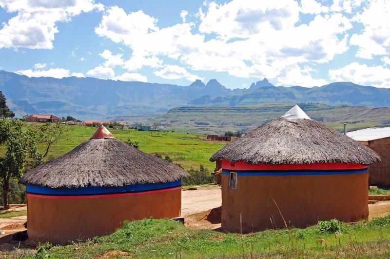 Rondavels in the Drakensberg