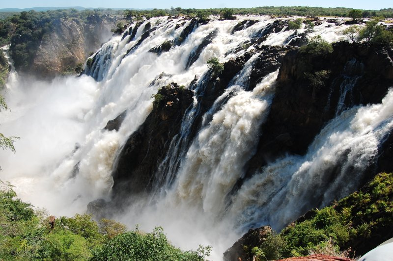 Ruacana Falls on namibian/angolan border