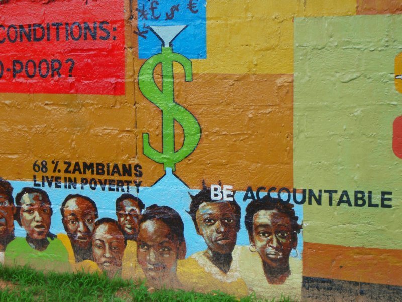 Wall painting in Lusaka