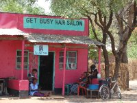 road side barber stall