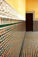 Colourful tiles in a mosque