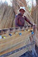 Making bamboo mats