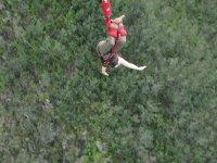 Bungy jumping in Bloukran's Bridge