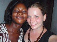 my zambian sister, melody, and I