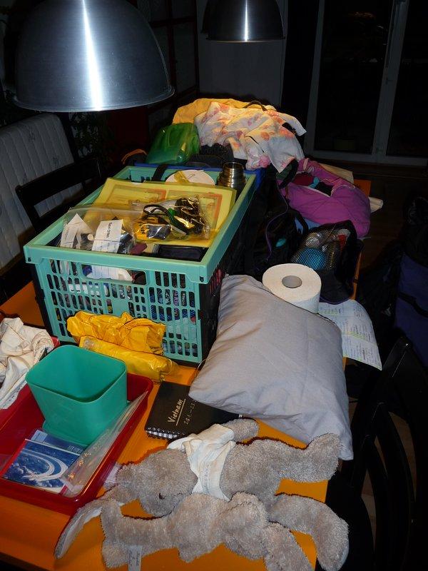 und wie soll das je alles in einem Rucksack Platz haben?