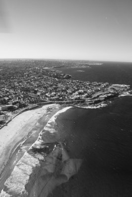 Helicopter Trip around Sydney - looking down at Maroubra