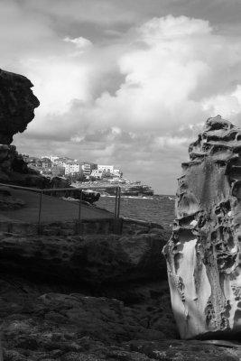 Looking back towards Bondi from the coast path