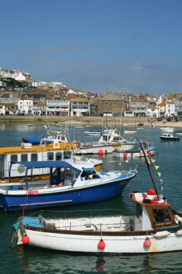 More boats in St Ives Harbour
