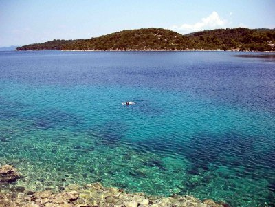 Swimming off Mljet