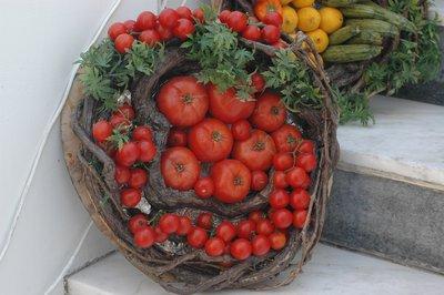 Santorini tomatoes