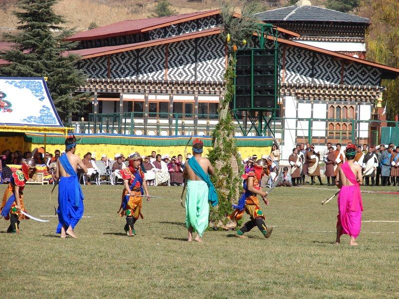 Ceremonial Dance Around Tree