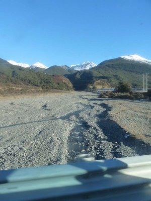 looking up a braided river