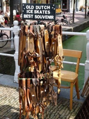 Old dutch ice skates for sale, Delft
