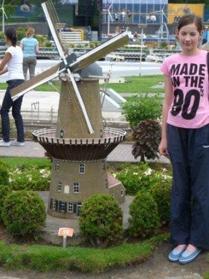 "Rosemary and model of ""De Valk"" windmill, Madurodam"