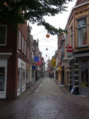 A typical street scene in the centre of Alkmaar