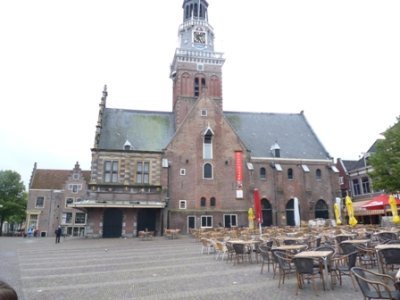 The cheese market in Alkmaar