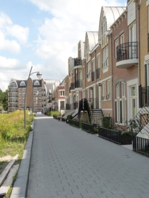 Looking along a street in the new wijk, Voorschoten