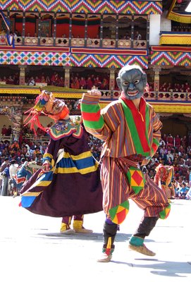 Clown and Masked Dancer