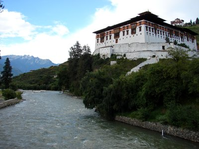 Paro Dzong from its Bridge