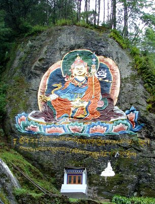 Guru Rinpoche on Road to Tango Goemba