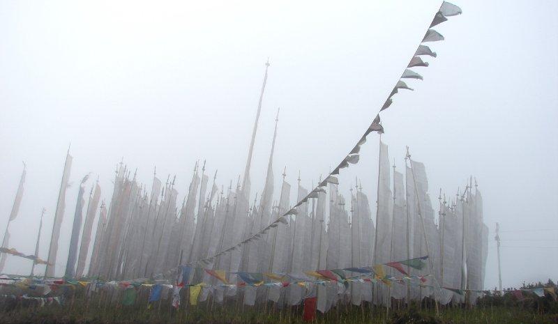 Prayer Flags At Yonton La Pass