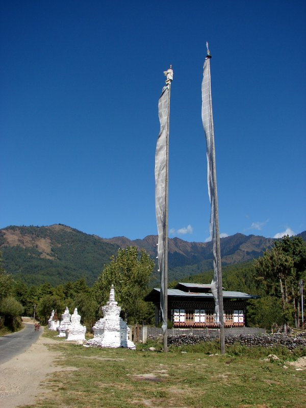 5 Chortens and a House in Jakar