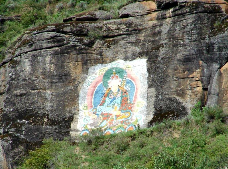 Buddha on route from Thimphu to Paro