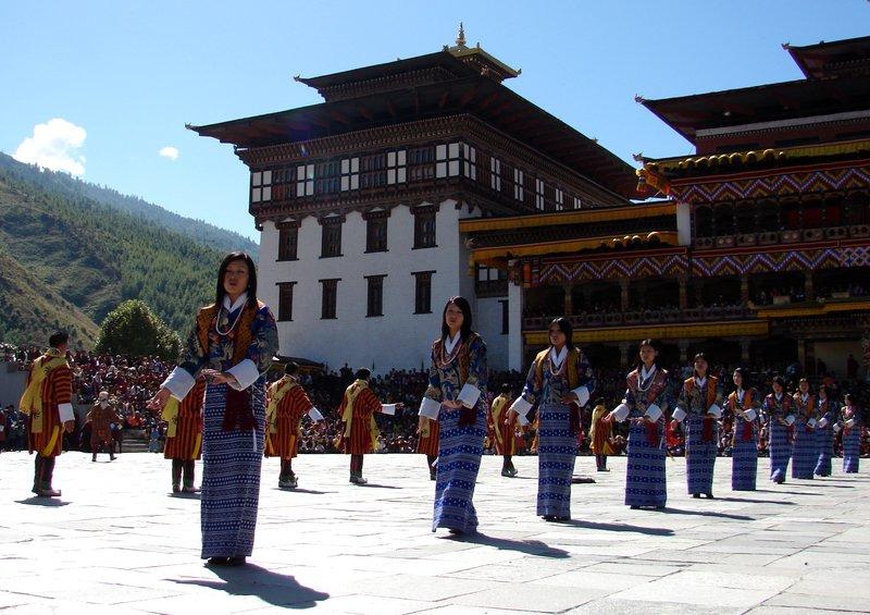 Folk Dance at the Thimphu Tsechu