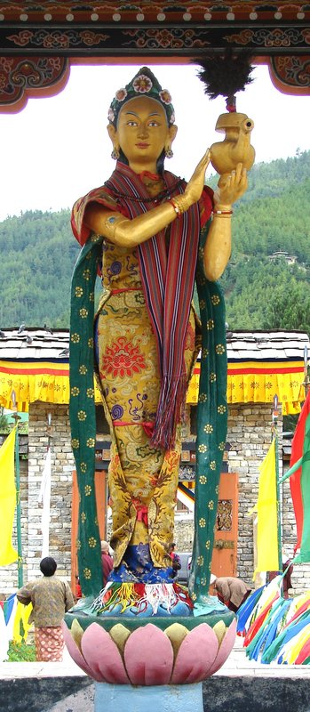 Goddess in pavilon outside the National Memorial Chorten