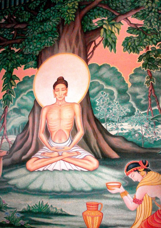 Siddhartha just before abandoning the way of the asthetic
