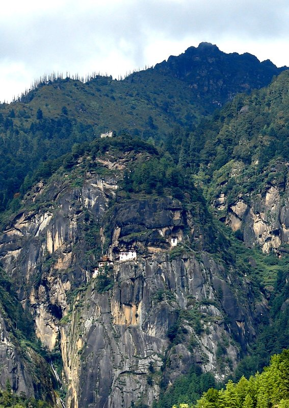 The Tiger's Nest monastery from the opposite side of Paro Valley