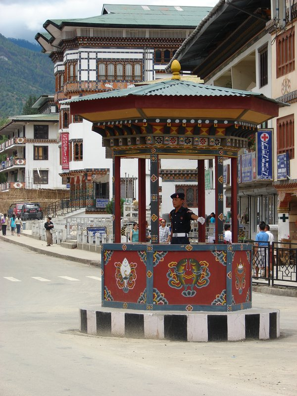 Thimphu's Major Intersection