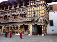 Inside Paro Dzong, second courtyard