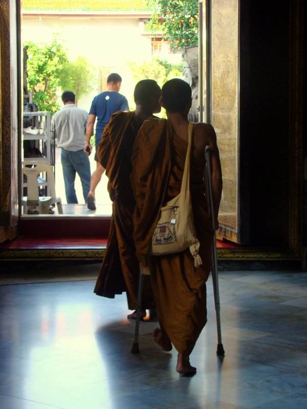 monks in Grand Palace
